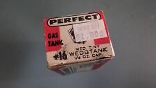 Vtg Nos Perfect Model Airplane Metal Gas Tank #16 Wedgtank Medium in Box 1/4oz