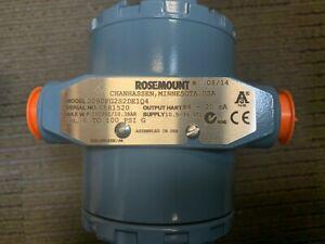 NIB ROSEMOUNT 2090FG2S2DE1Q4 Sanitary Pressure Transmitter 0-100 PSIG with Certs