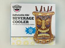 Inflatable Tiki Ice Chest Drink Beverage Tike Man Totem Pole Can Beverage Cooler