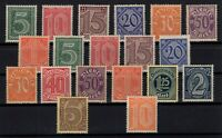 126712/ GERMANY – OFFICIAL - MI # 16 / 33 - 65 COMPLETE MINT MNH – CV 105 $