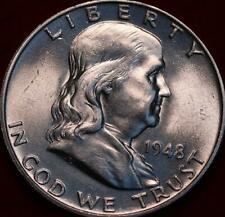 Uncirculated 1948 Philadelphia Mint Silver Franklin Half