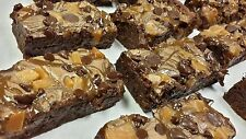 16 Homemade Roger's Cafe made to Order Dessert -  Chocolate & Caramel  Brownies