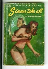 SINNER TAKE ALL by Arthur, rare Canada Derby #2 sleaze noir gga pulp vintage pb