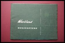 Vintage WESTLAND AIRCRAFT Ltd HELICOPTERS 1950's Manufacturers Trade Brochure