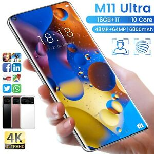 M11 ultra 7.3 inch 16GB 1TB 5G Android Smartphone 4K HD Global unlocked mobile