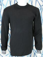 Feal Mor Sailor Sweater Long Sleeves Gray Cuff Button Shoulder Mens XL