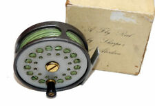 "Sharpes of Aberdeen The Gordon 3-1/2"" vintage alloy trout fly reel & box, fine"