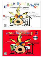 Kräsch Bum Bäng - Band 1 oder 2 mit CD - Schlagzeugschule Kinder ab 6 Jahren