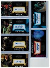 2017 Topps Star Wars The Force Awakens TFA 12-Card Signed Auto Lot All #'d /25