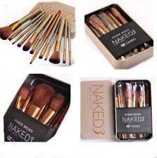 12/pcs maquillaje cepillo conjunto con Metal Dorado Estuche Cepillos de alta calidad a estrenar