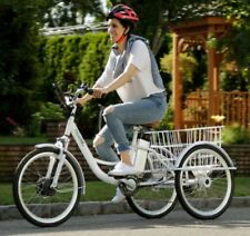 """Electric Adult Tricycle 3 Wheeler Commuter 24"""" 6 Speed 36V Removable 250 Watt"""