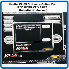 Ksuite V2.53 Software Online For RED KESS V2 V5.017 Unlimited DIAGNOSTICS obd2