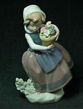 Vintage Lladro Spring Is Here Girl With Flower Pot Figurine