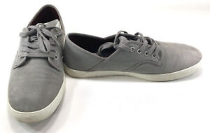LaCoste Shoes Andover CLL Canvas Gray/White Sneakers Size 8.5
