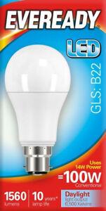 10 x 13.2w = 100w LED GLS Bayonet BC B22 Light Bulb in Daylight White = 100 Watt