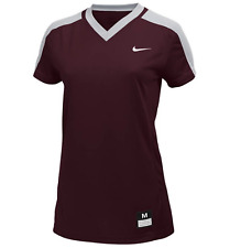NIKE Womens Vapor Dri-Fit Softball Game Jersey | Maroon/Gray | XXL | 707183 NWT