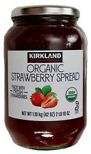 Kirkland Signature 100% USDA Organic Strawberry Spread Jam Fruit Jelly, 42 OZ