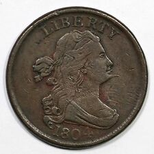 1804 C-5 R-4 Draped Bust Half Cent Coin 1/2c
