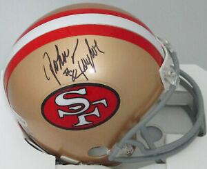 SF 49ers JOHN TAYLOR Signed Riddell Mini Helmet AUTO - 3 x SB Champ - Beckett