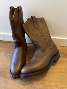 Red Wing Pecos 1114 Pull On Western Cowboy Work Boots 9 E.