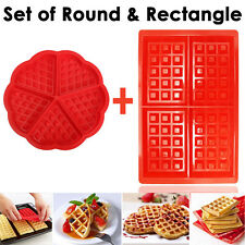 Lot de Round and rectangle Silicone gaufres cuisson Gâteau MUFFIN CHOCOLAT MOULE