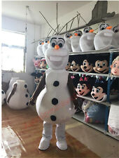 Olaf Snowman Mascot Costume  Frozen Cosplay Halloween X'mas Party Dress Adult