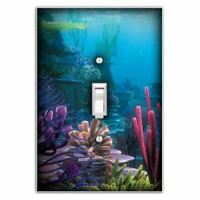 Underwater Decorative Single Toggle Light Switch Plate Cover
