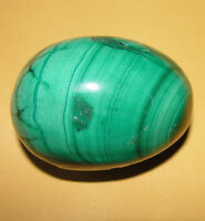 Large Malakite Malachite Carved Egg Natural Speciment Gem Stone African Congo