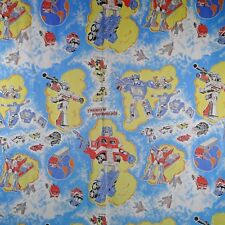 Transformers Twin Flat Bed Sheet Vintage 1984 First Generation Cutter Crafts