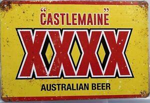 BEER xxxx  Rustic Look Vintage Tin Metal Sign Man Cave, Shed-Garage & Bar