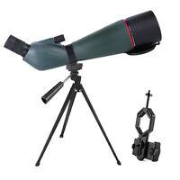 20-60x80 Zoom Precision Spotting Scope Telescope &Phone Adapter Soft Case Hurt