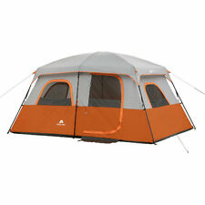 8 person 2 room tent Fits 2 queen sized airbeds durable 68d coated polyester fab