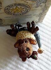 Boyds Resin Wee Folkstone~#25808 Jingle Mooselbeary Ornament~2E~New w/Box