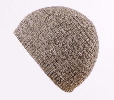 Mens/Womens Seamless 100% BRITISH WOOL Purl Stitch Beanie hat, 7 Colours