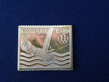 1976 Canada Post Montreal 15+5 Stamp Fractional .999 Silver Art Bar P1738