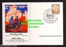 116948 AK Rathen Sächs. Schweiz Karl May Spiele 18.8. Privatganzsache Werbeschau
