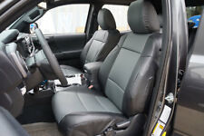 TOYOTA TACOMA SPORT TRD 09-15 BLACK/CHARCOAL LEATHER-LIKE FRONT SEAT COVER