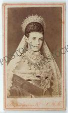 1880s Imperial Russia Russian Empress Maria Feodorovna Vezenberg CDV Photo