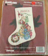 Janlynn Christmas Cross Stitch Victorian Santa & Children Stocking Kit Vintage