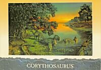 CORYTHOSAURUS~LATE CRETACEOUS~CHASMOSAURUS~LEAVE THE WATERS OF BAYOU POSTCARD