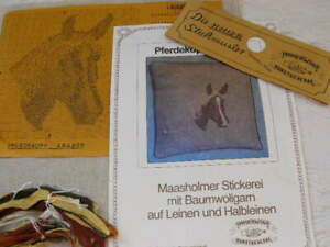 Kreuzstich Stickbild Pferd Kissenhülle Handarbeit Stickpackung Schleswig-Holstei
