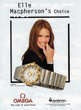 1997 OMEGA  SWISS WATCHES (Constellation) , ELLE MaCPHERSON Magazine Print AD