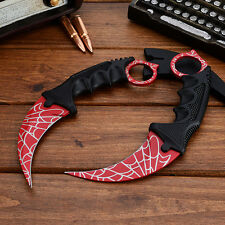 CSGO Karambit Knife Web Real Life Counter Strike Fixed Blade Tactical CS Knife