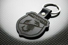 Handmade Leather Keychain Keyring for FIAT Abarth (Symbol)