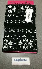 Boot Toppers By Simply Be - Black with White Pattern