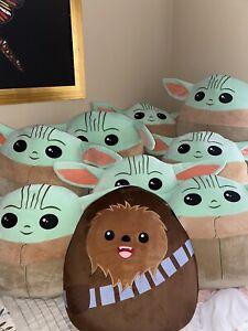 "Star Wars ""NEW"" Mandalorian Baby YODA's or Chewbacca Squishmallow 20"" Inch. 🥰"