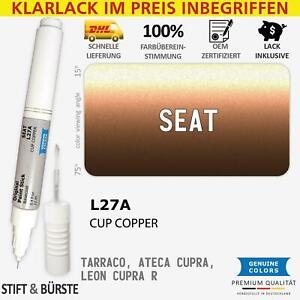L27A CUP COPPER Lackstift für SEAT Braun TARRACO ATECA CUPRA LEON R Kratzer Sti