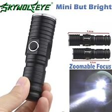 Mini Flashlight Zoomable XML T6 LED CR123A 3 Modes 3000LM Hiking Camping Lamp!