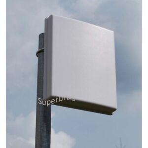 SuperLinxs 2.4/5GHz 14dBi 4x4 3x3 2x2 Dual Band Panel Antenna WIFI 802.11ac N