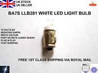 White LED SMD 281 BA7S Lucas Type LLB281 Car Dash Gauges Light Bulbs Lamp 12V UK